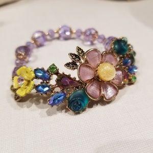 Betsey Johnson Colorful Floral Bracelet